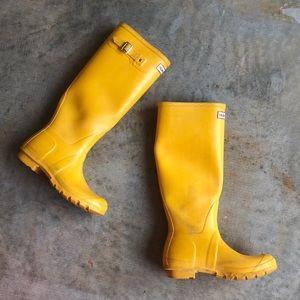Tall Yellow Hunter Rain Boots